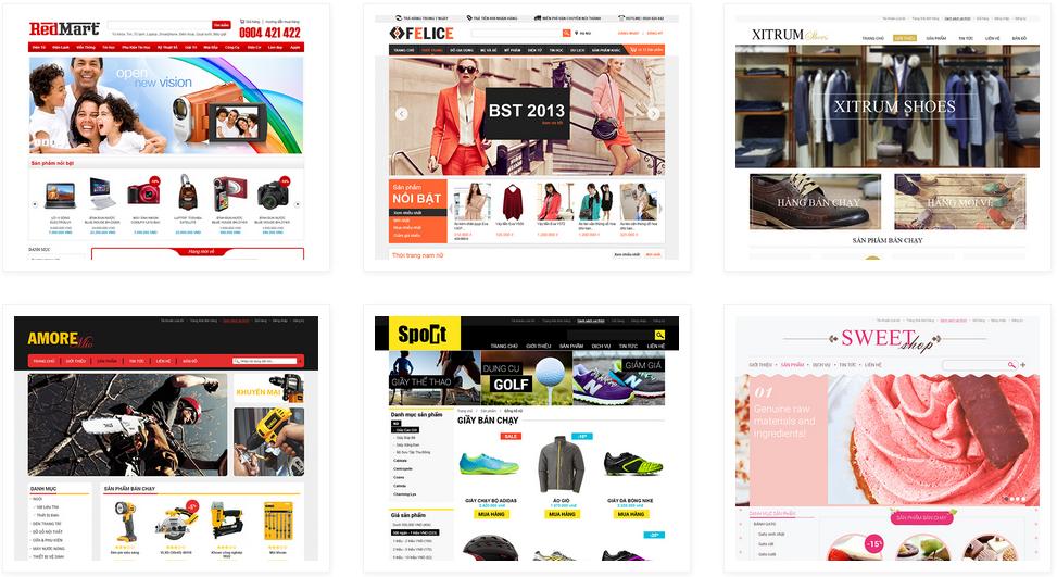 Các mẫu thiết kế website theo yêu cầu