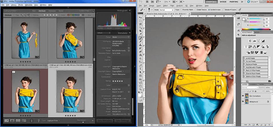 Phần mềm chỉnh sửa ảnh Photoshop Lightroom