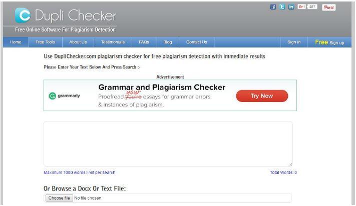 Phần Mềm Kiểm Tra Đạo Văn DupliChecker