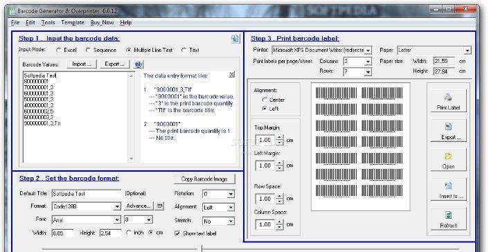 Barcode generator Overprint
