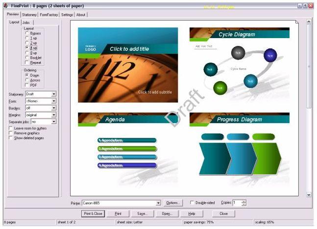 Fine Print - phần mềm hỗ trợ máy in
