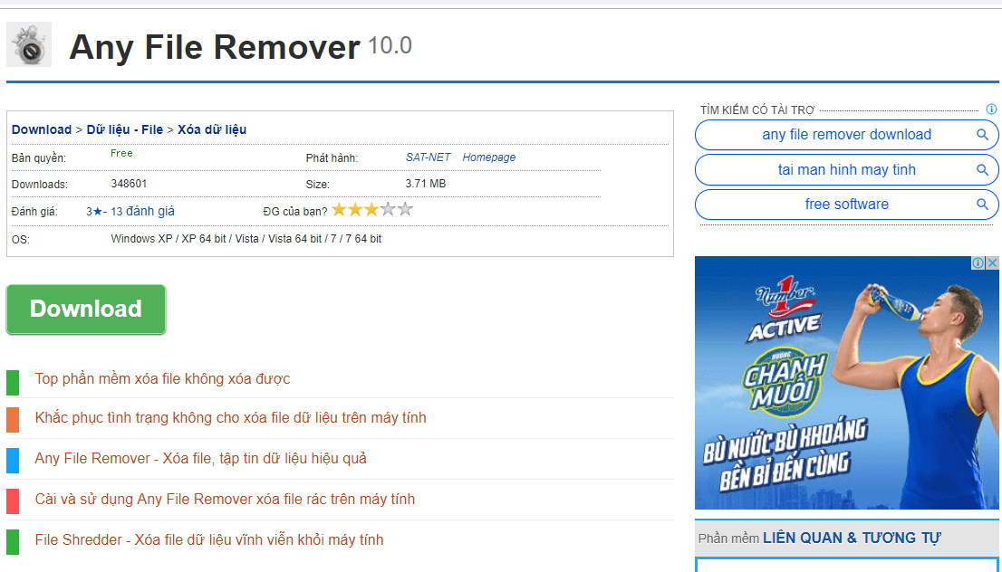 Phần mềm Any File Remover