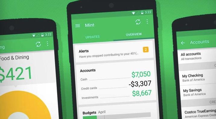 App quản lý chi tiêu cá nhân, gia đình Mint