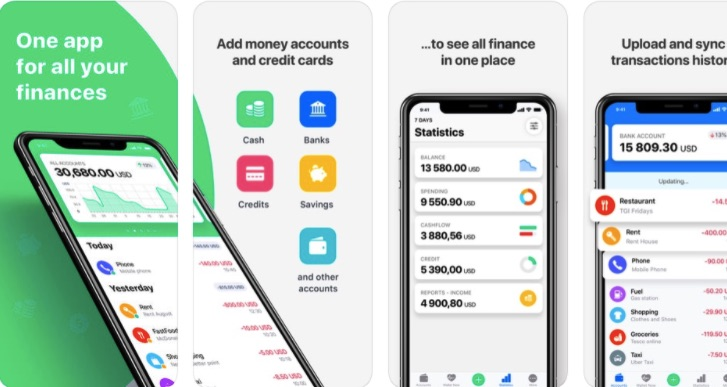 App quản lý chi tiêu Spendee