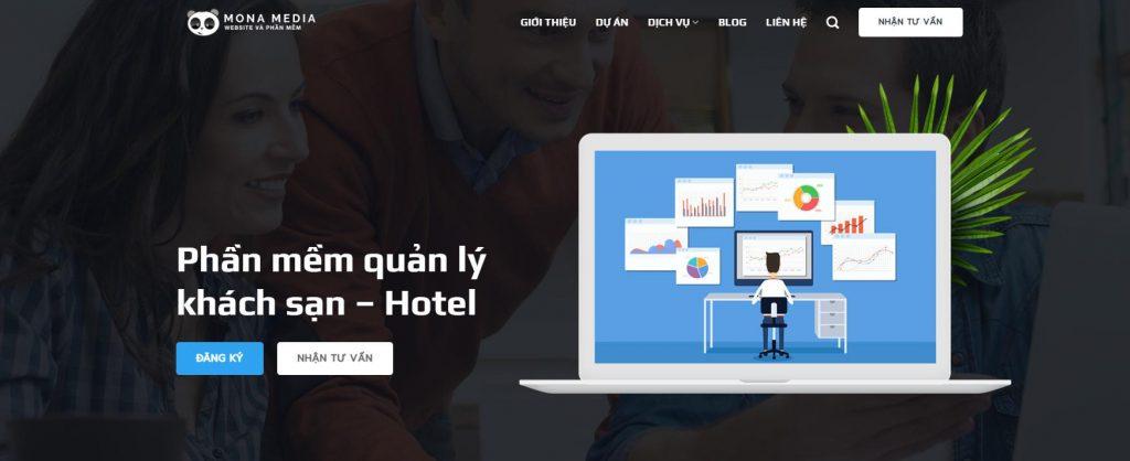 Phần mềm quản lý khách sạn - resort PMS của Mona Media