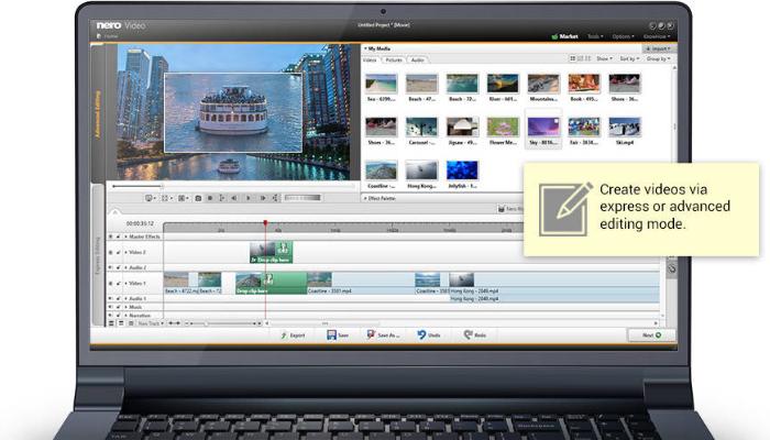 Nero Video - Phần mềm chỉnh sửa video nhẹ cho máy tính cấu hình yếu