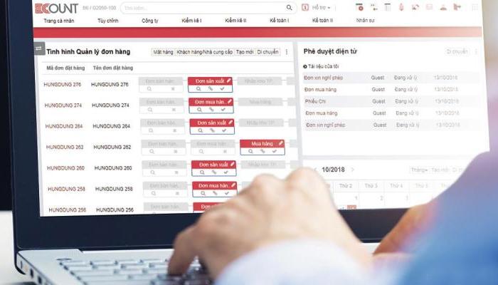 Phần mềm quản lý doanh nghiệp nhỏ -Ecount ERP