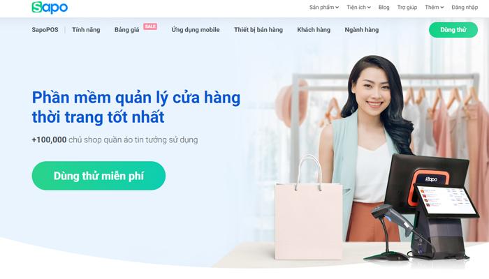 App quản lý shop quần áo - Sapo