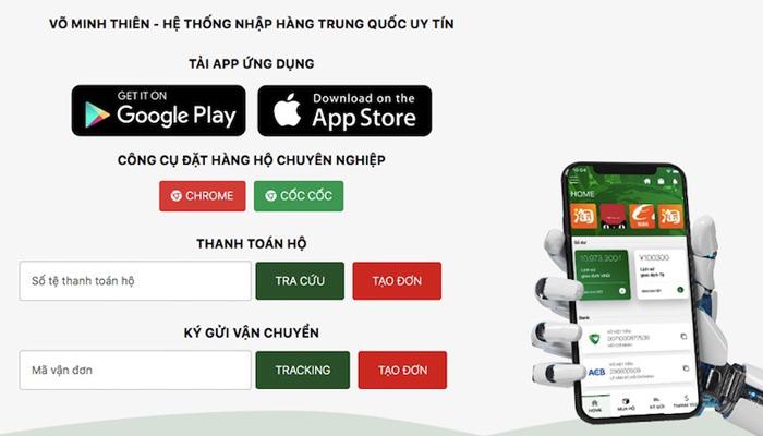 App đặt hàng Trung Quốc giá rẻ - Võ Minh Thiên