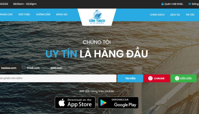 Ứng dụng nhập sỉ hàng Quảng Châu - Camthach Company
